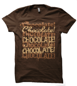 chocolate x5 t-shirt-alpha